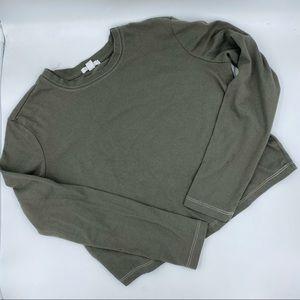 🌵5/$25 ARDENE Green Long Sleeve Crop Top Tee - XS